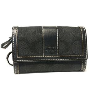 LIKE NEW Coach Black Signature Wallet